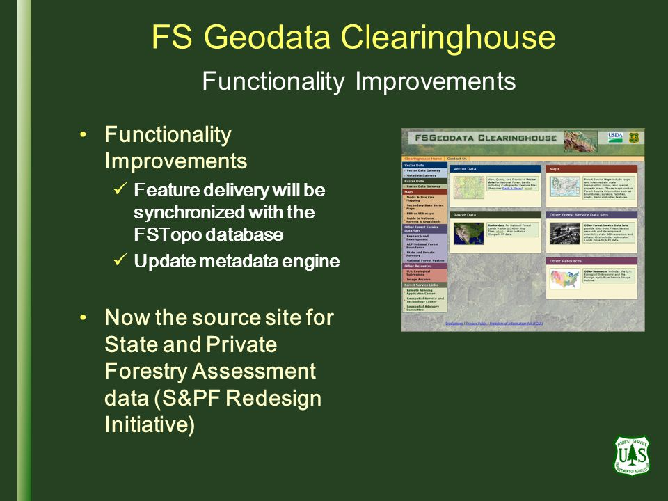 FS Geodata Clearinghouse