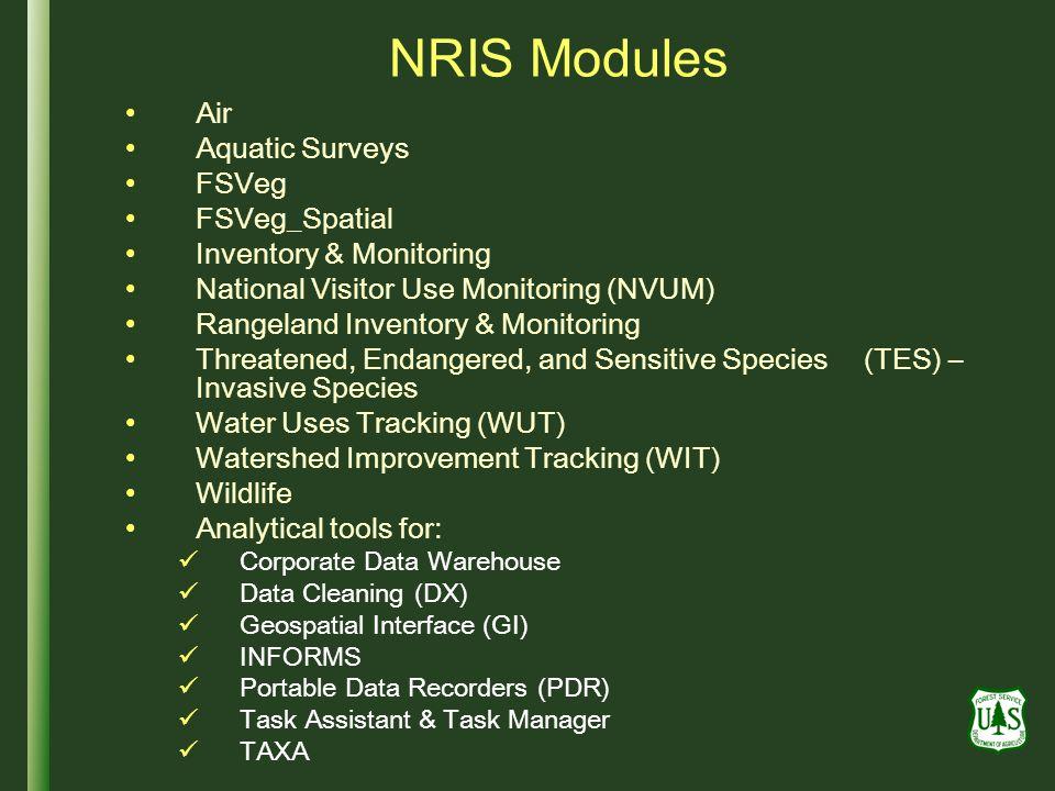 NRIS Modules Air Aquatic Surveys FSVeg FSVeg_Spatial