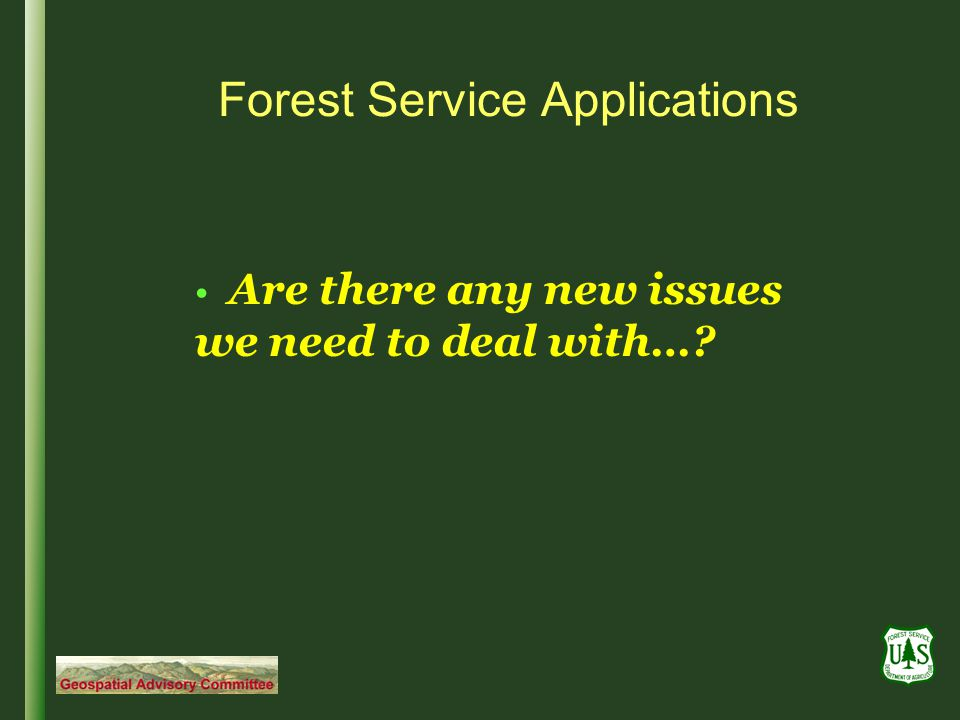 Forest Service Applications