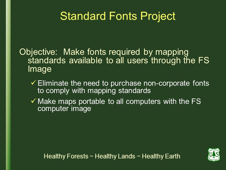 Standard Fonts Project