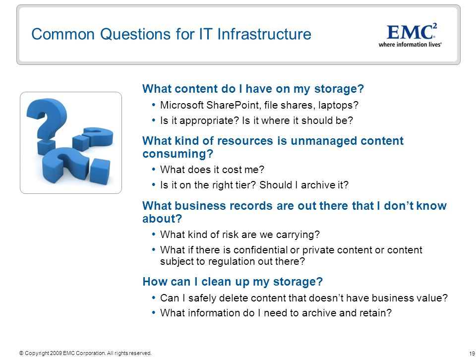 Common Questions for IT Infrastructure