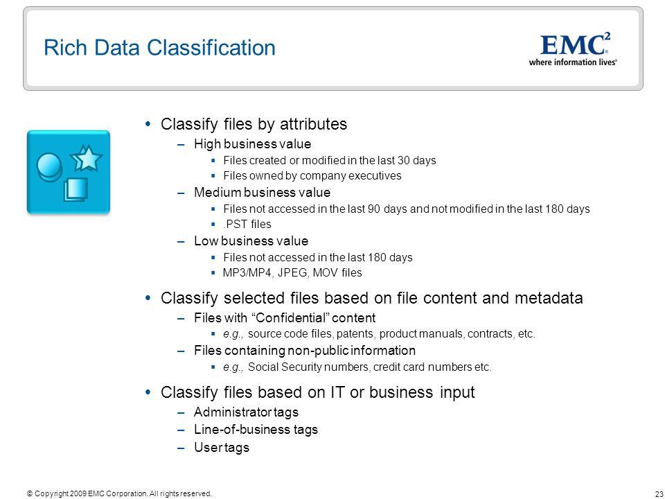 Rich Data Classification