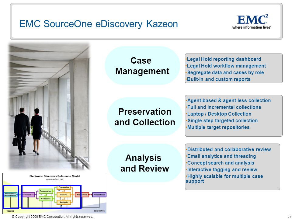 EMC SourceOne eDiscovery Kazeon