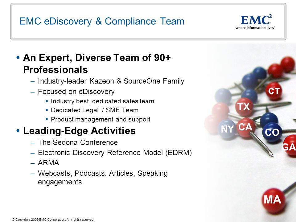 EMC eDiscovery & Compliance Team