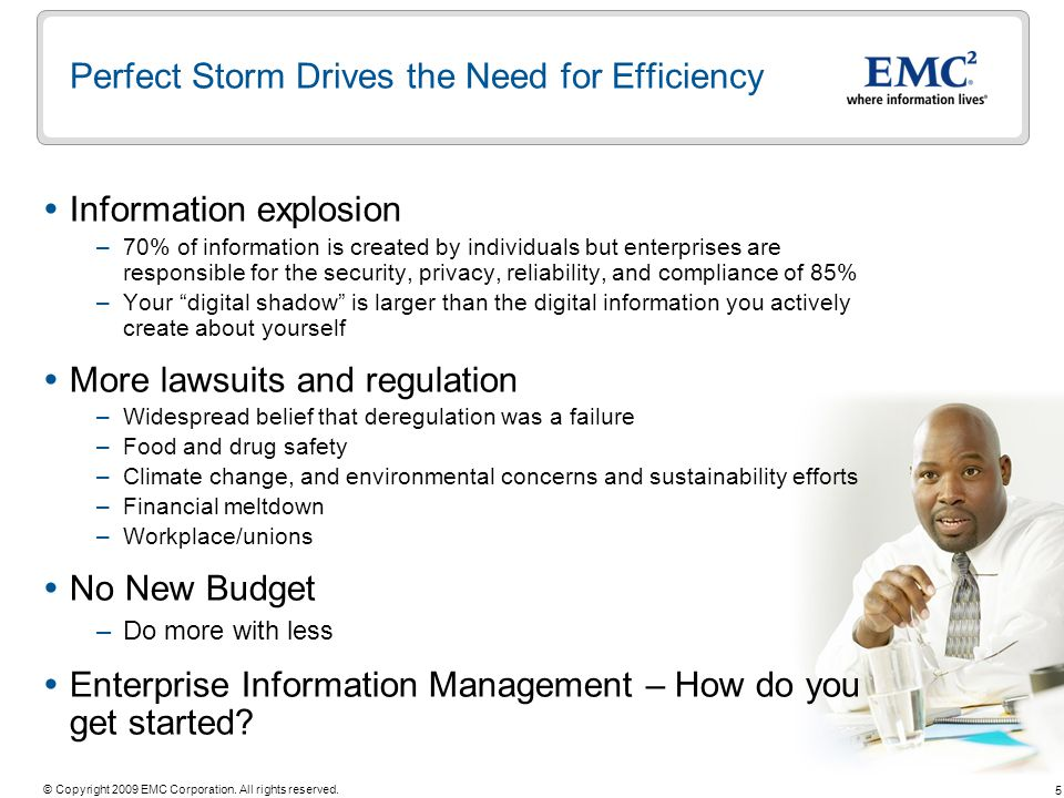 Perfect Storm Drives the Need for Efficiency