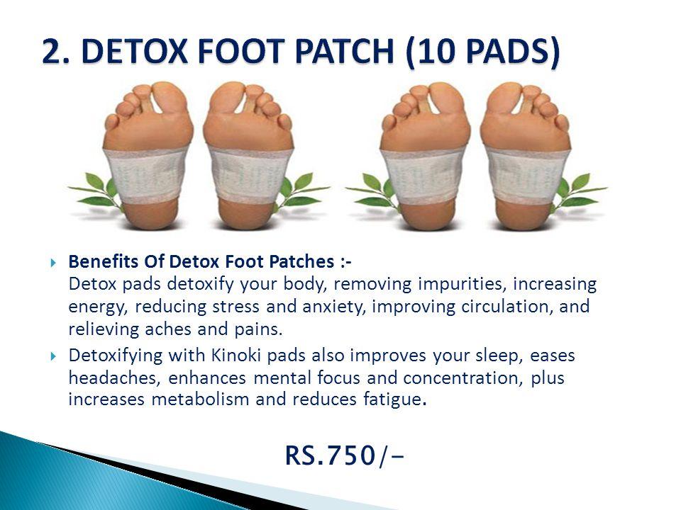 2. DETOX FOOT PATCH (10 PADS)