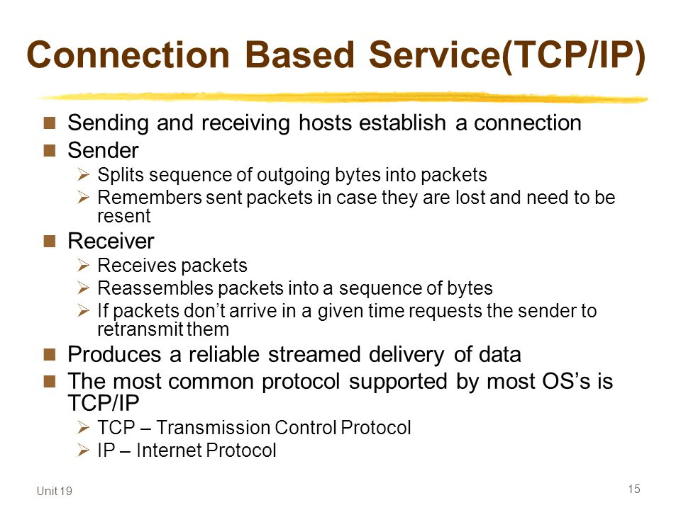 Connection Based Service(TCP/IP)