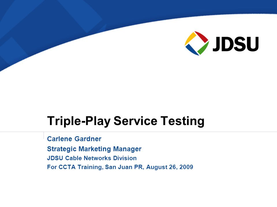 Triple-Play Service Testing