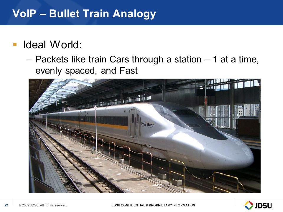 VoIP – Bullet Train Analogy