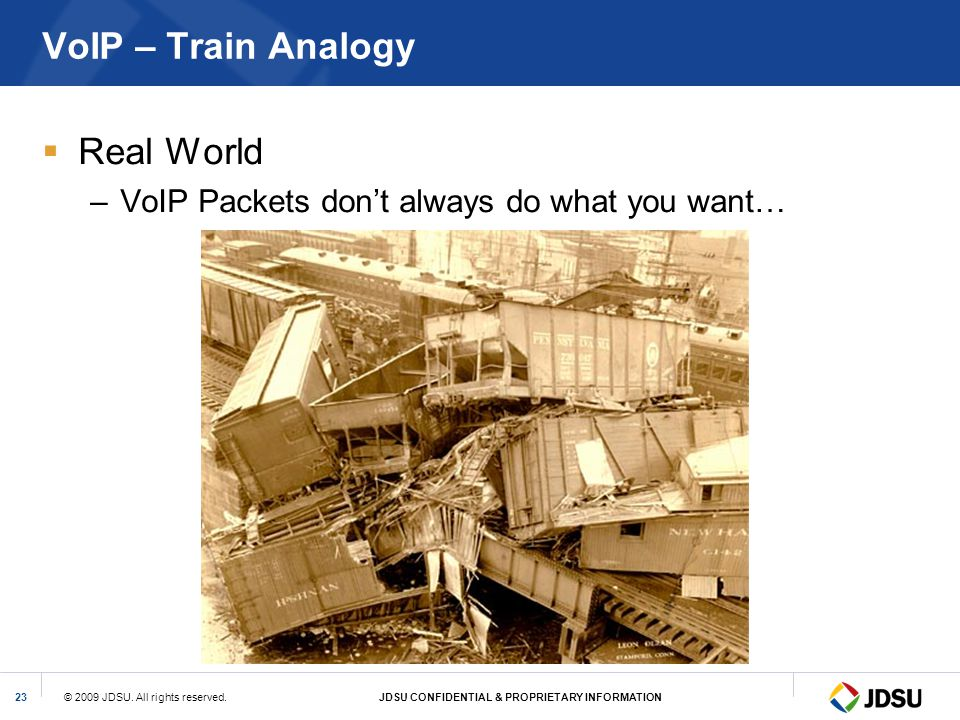 VoIP – Train Analogy Real World