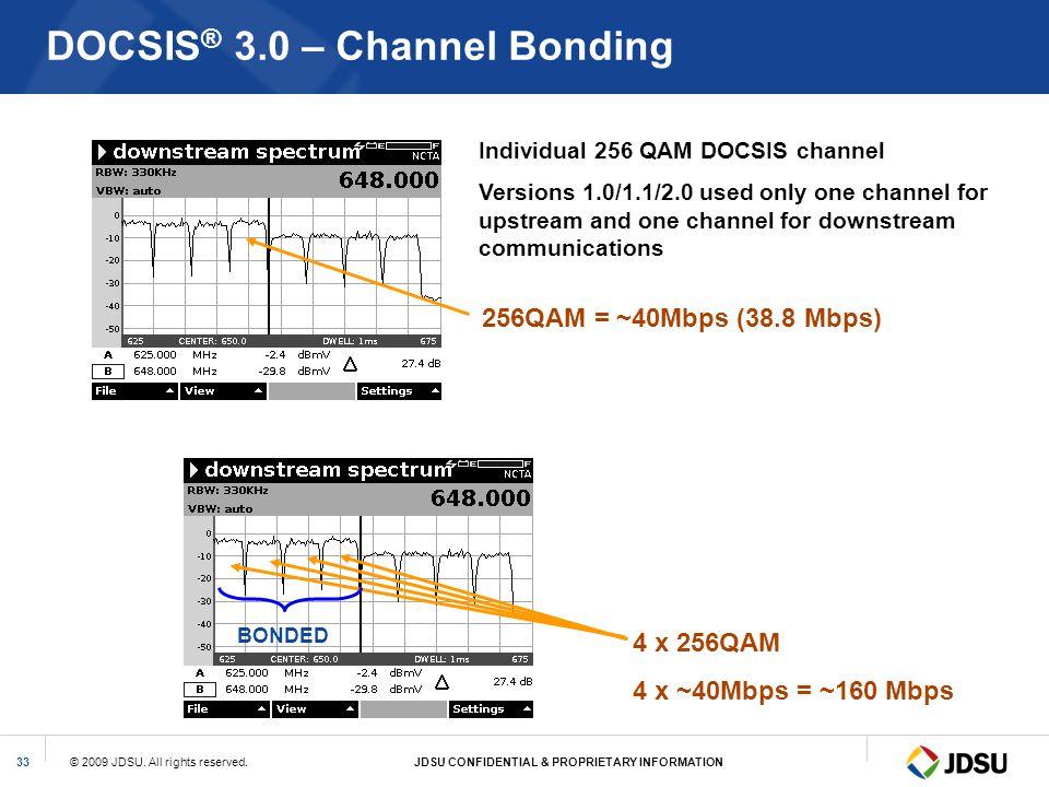 DOCSIS® 3.0 – Channel Bonding
