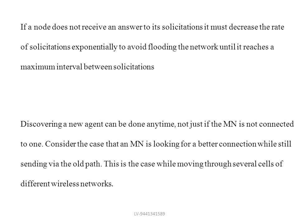maximum interval between solicitations
