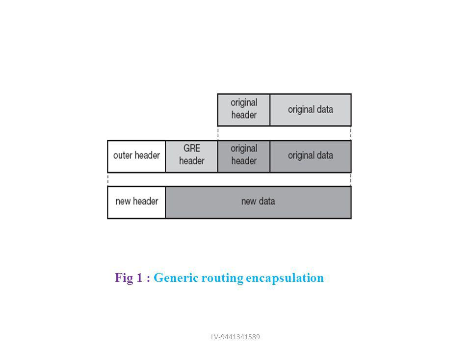 Fig 1 : Generic routing encapsulation