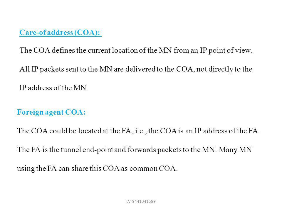 Care-of address (COA):