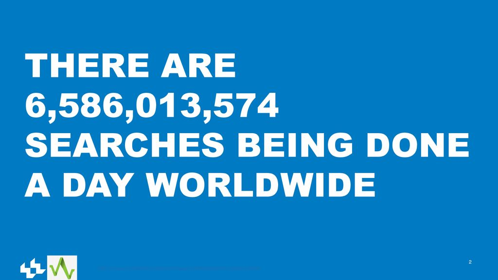 THERE ARE 6,586,013,574 SEARCHES BEING DONE A DAY WORLDWIDE