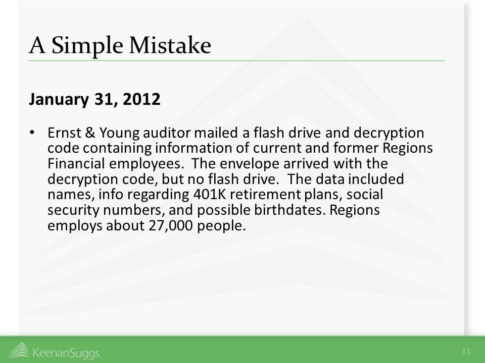 A Simple Mistake January 31, 2012