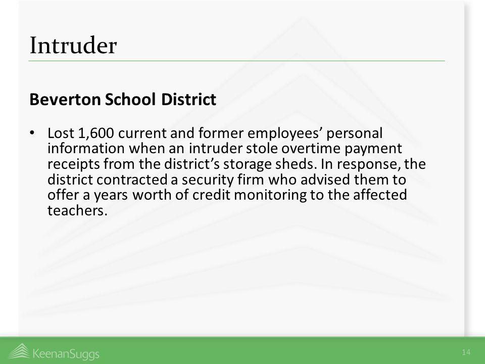 Intruder Beverton School District