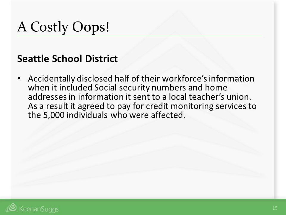 A Costly Oops! Seattle School District