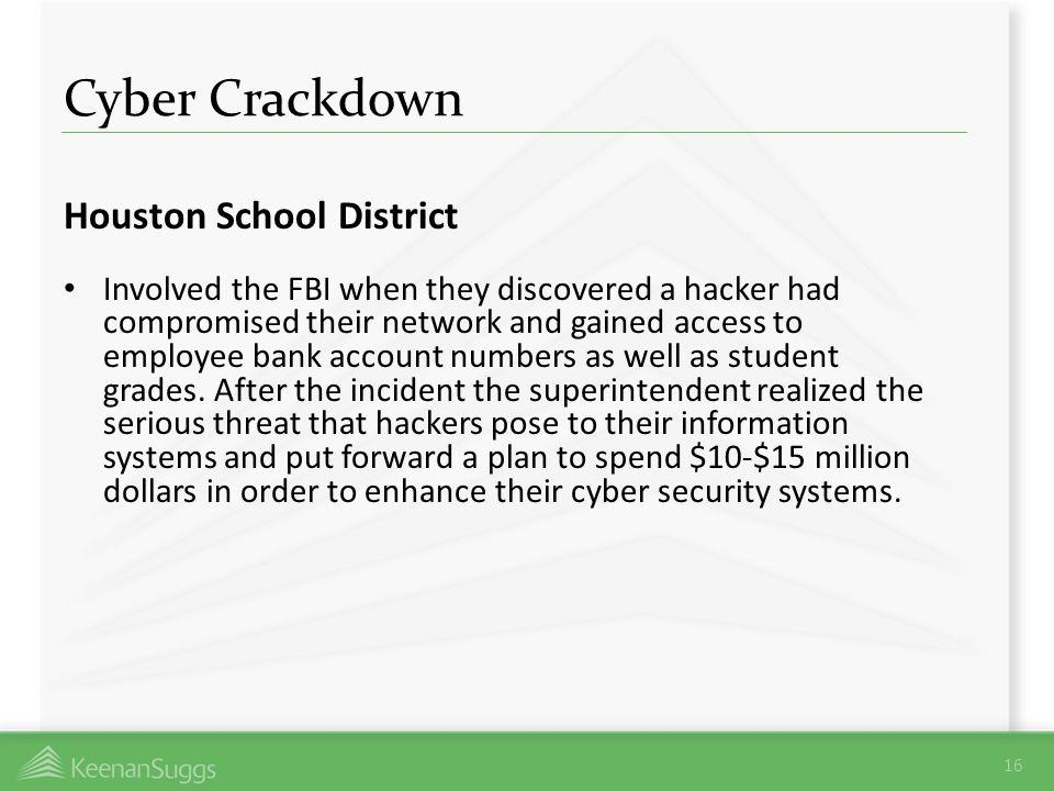 Cyber Crackdown Houston School District