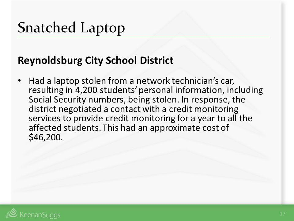 Snatched Laptop Reynoldsburg City School District