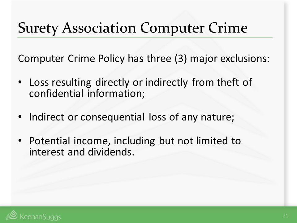 Surety Association Computer Crime