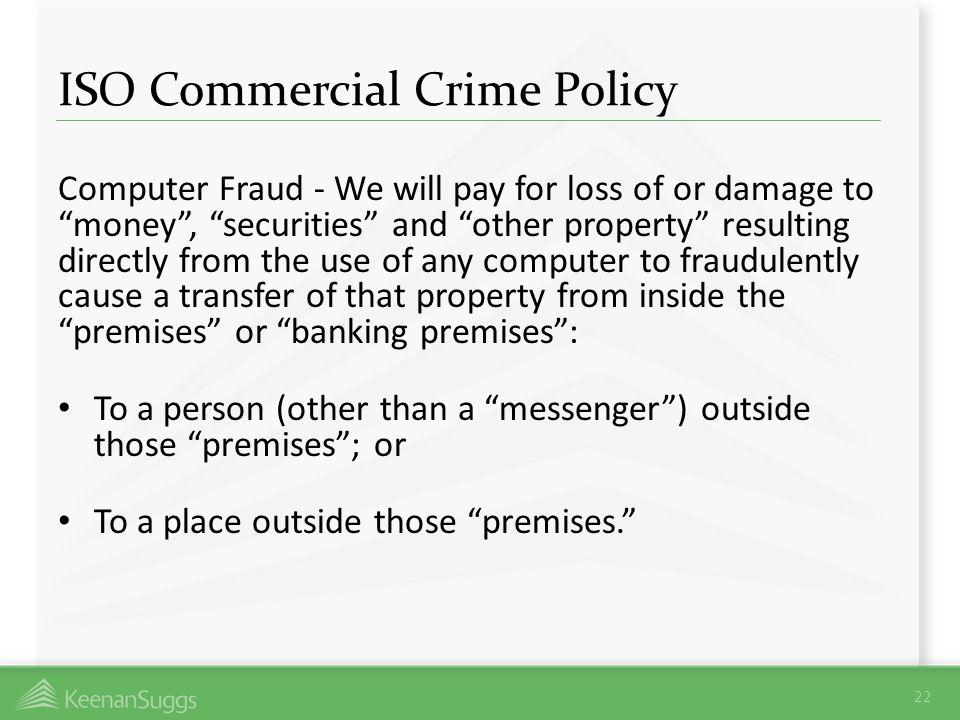 ISO Commercial Crime Policy