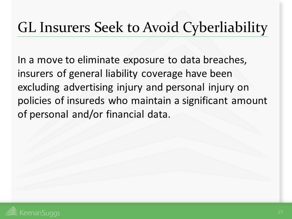 GL Insurers Seek to Avoid Cyberliability