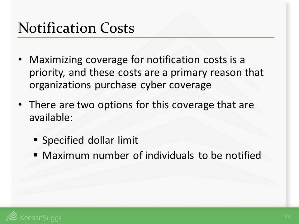 Notification Costs