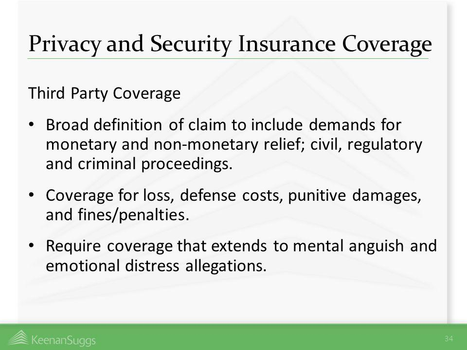 Privacy and Security Insurance Coverage