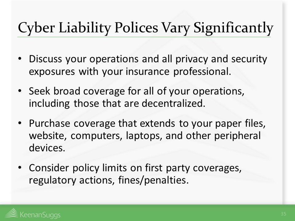 Cyber Liability Polices Vary Significantly