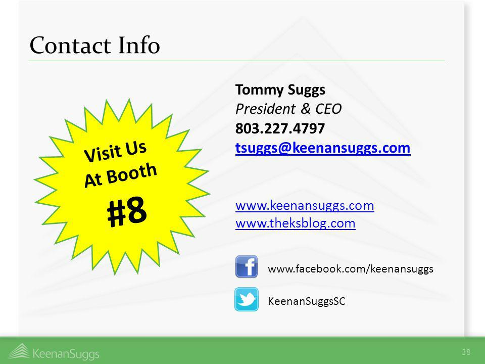 Contact Info Tommy Suggs. President & CEO. 803.227.4797. tsuggs@keenansuggs.com. www.keenansuggs.com.