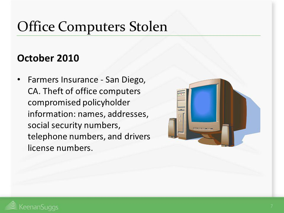 Office Computers Stolen