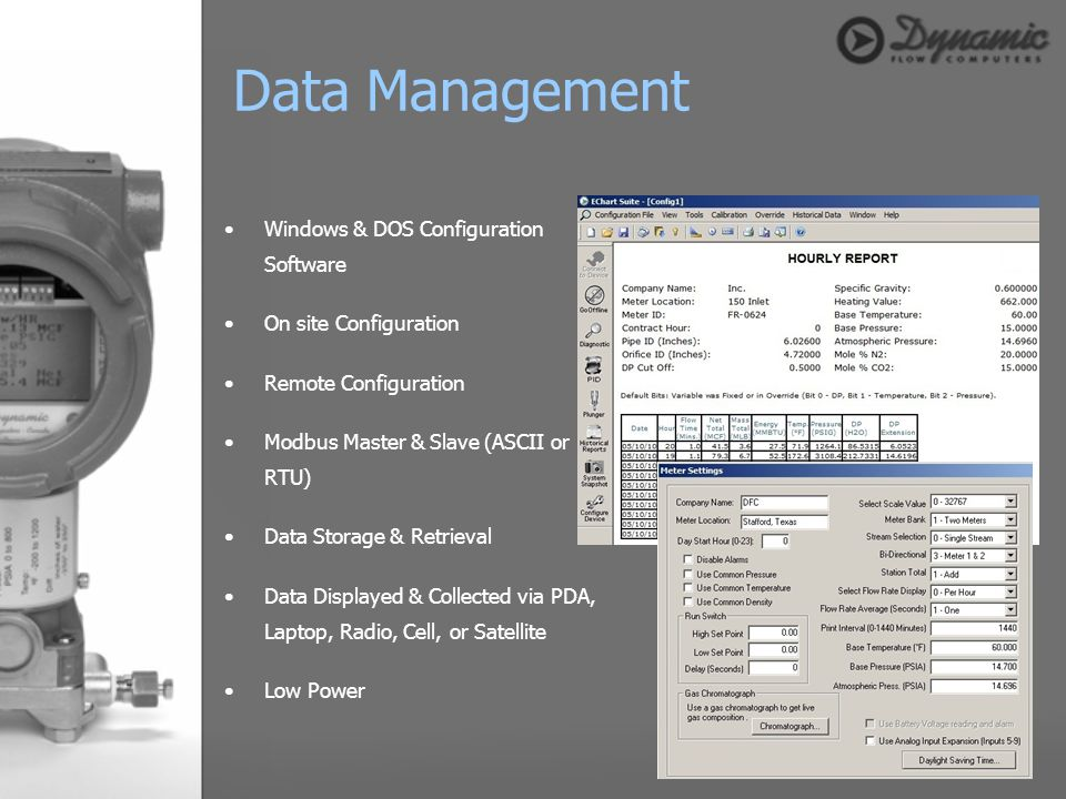 Data Management Windows & DOS Configuration Software