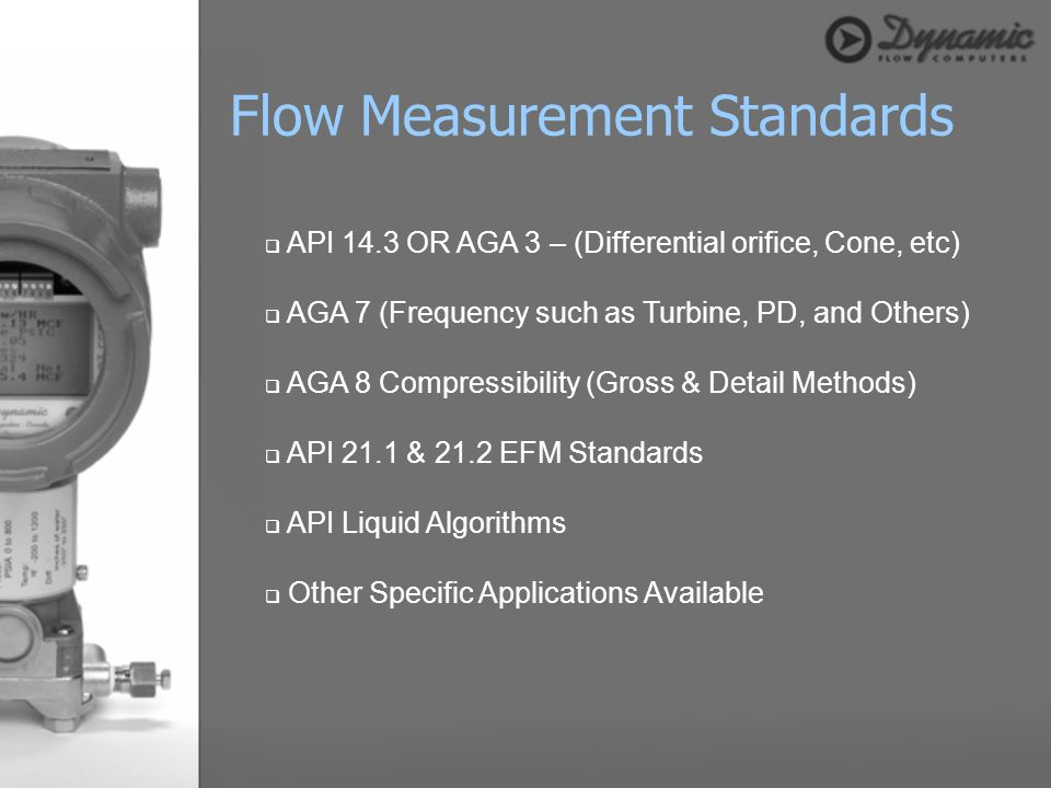 Flow Measurement Standards
