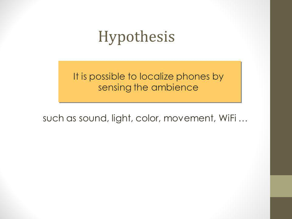 It is possible to localize phones by