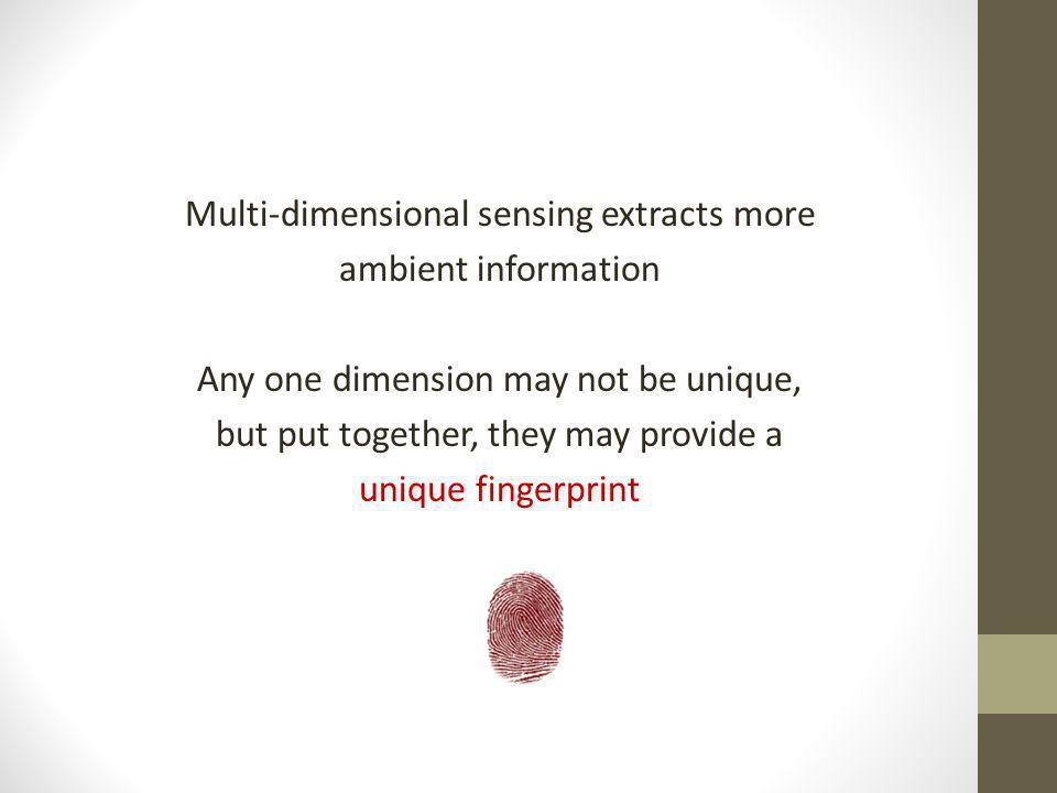 Multi-dimensional sensing extracts more ambient information