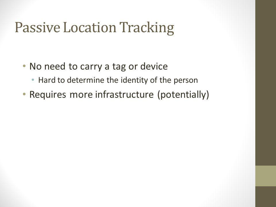 Passive Location Tracking