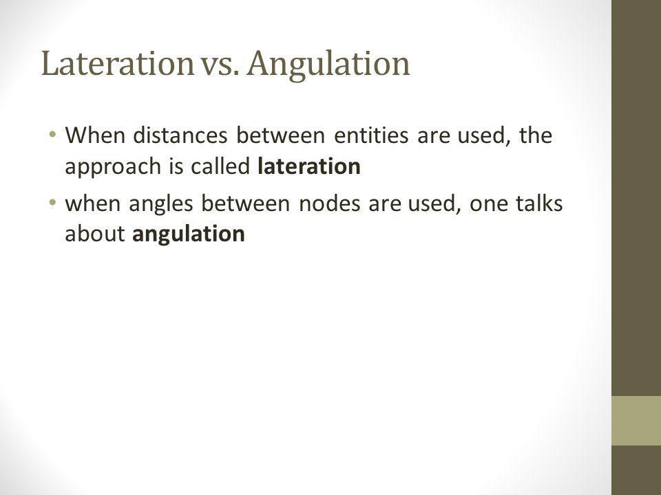 Lateration vs. Angulation