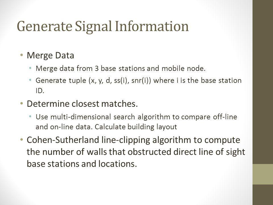 Generate Signal Information