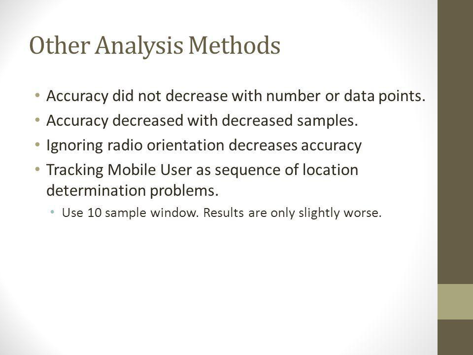 Other Analysis Methods