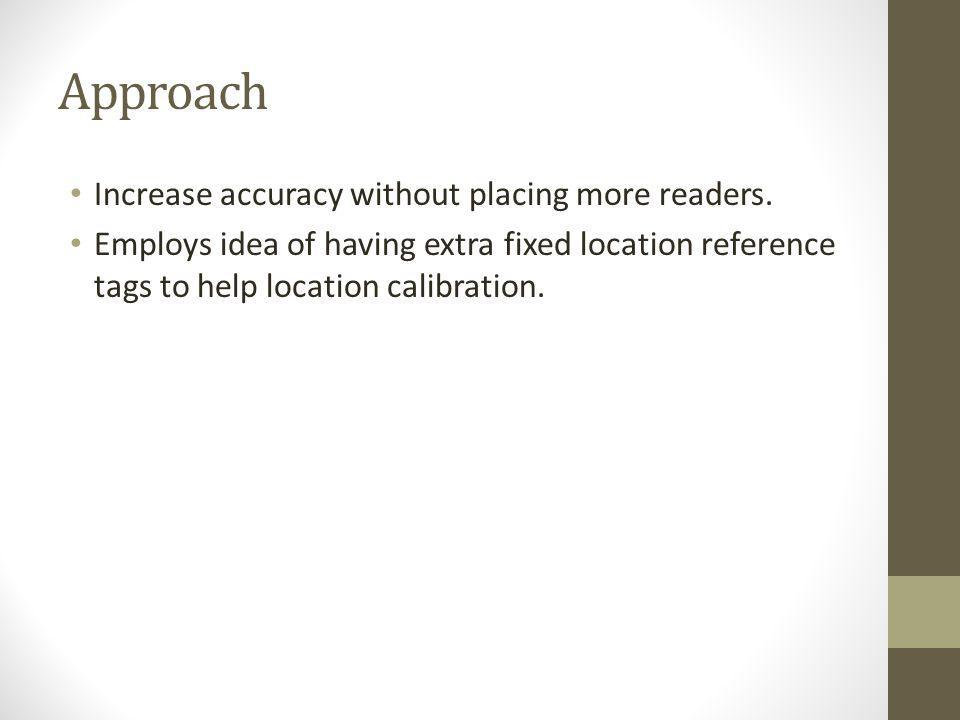 Approach Increase accuracy without placing more readers.