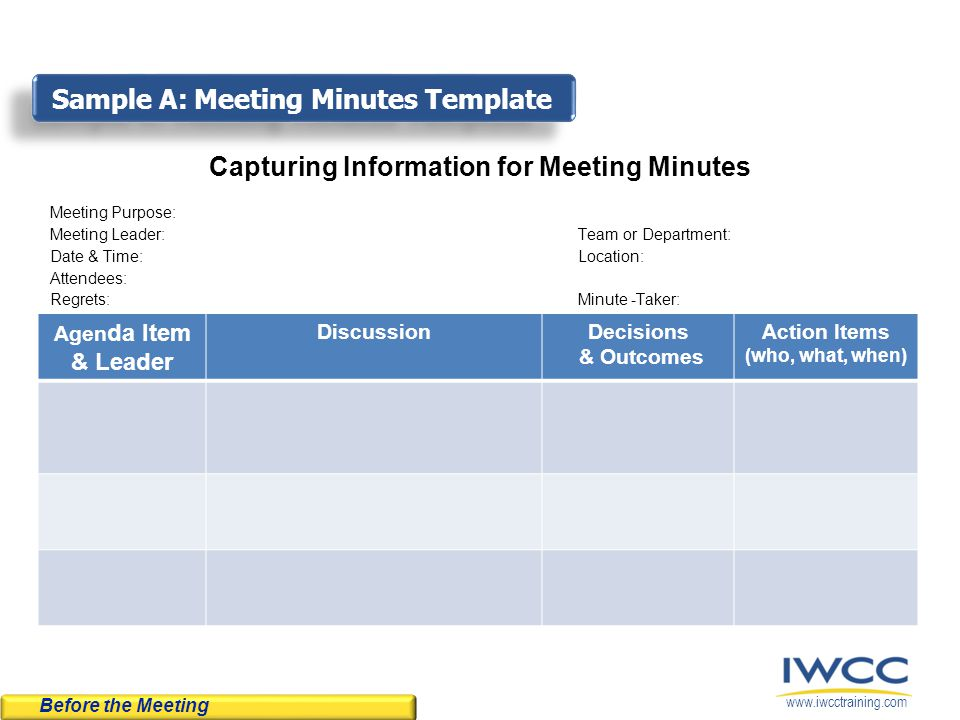 what is minutes of the meeting