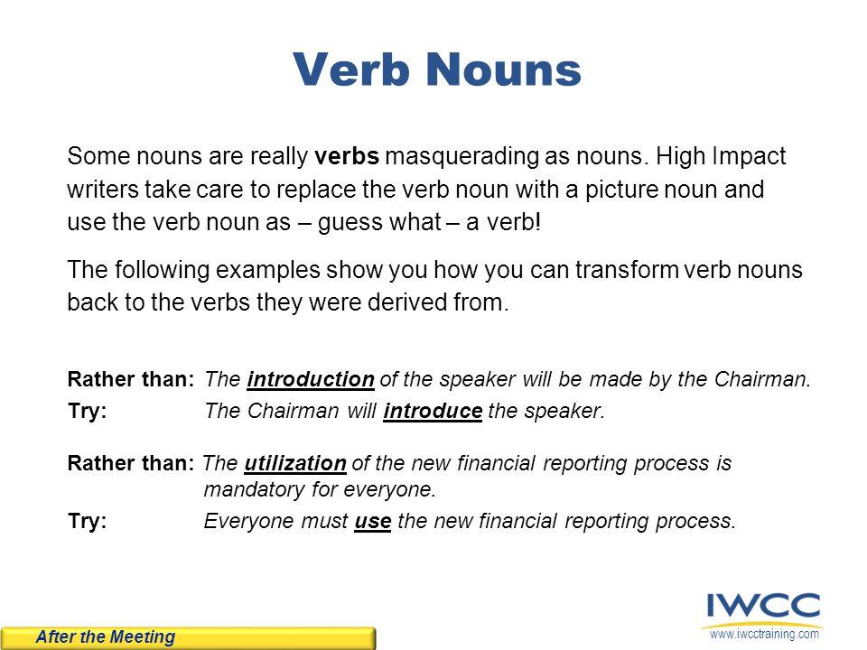 Verb Nouns