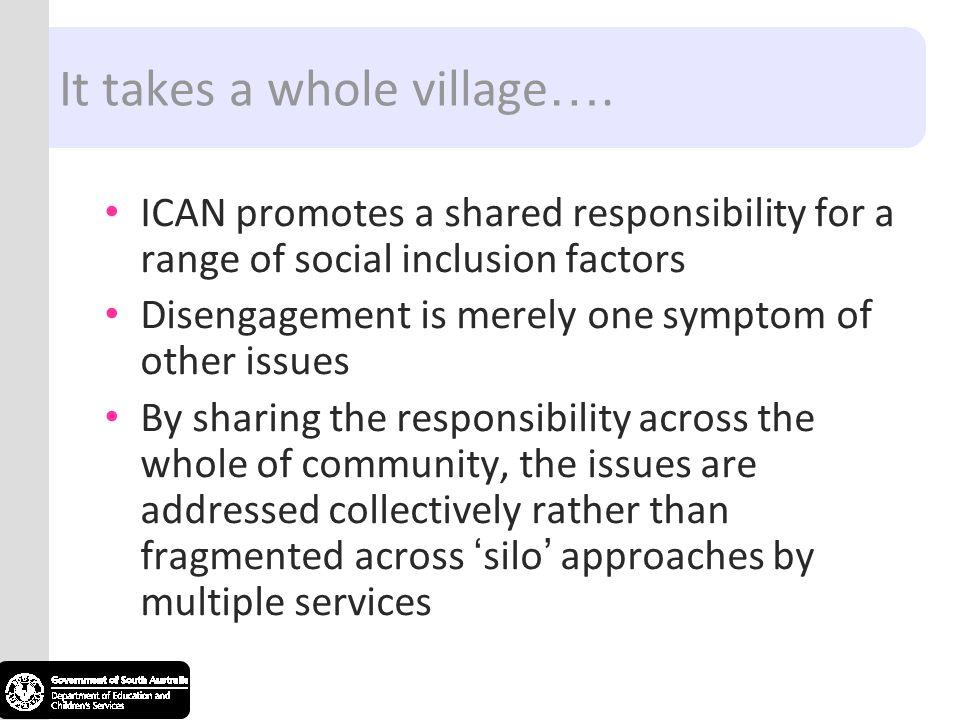 It takes a whole village….