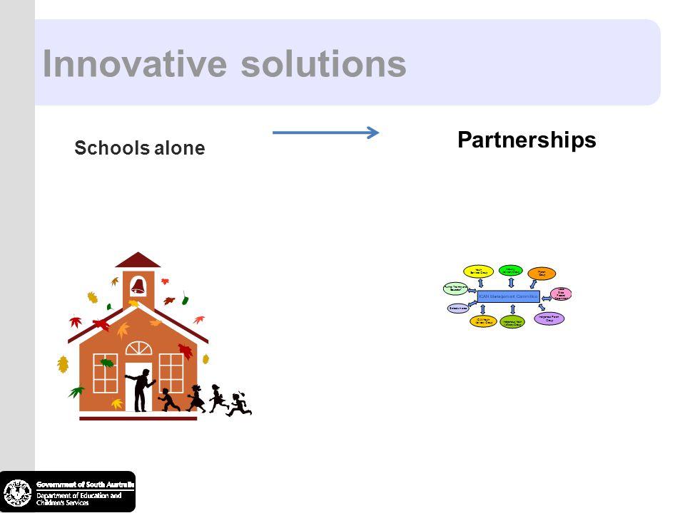 Innovative solutions Partnerships Schools alone