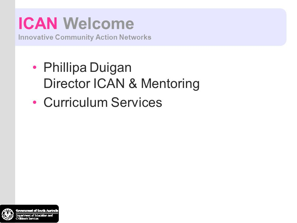 ICAN Welcome Innovative Community Action Networks