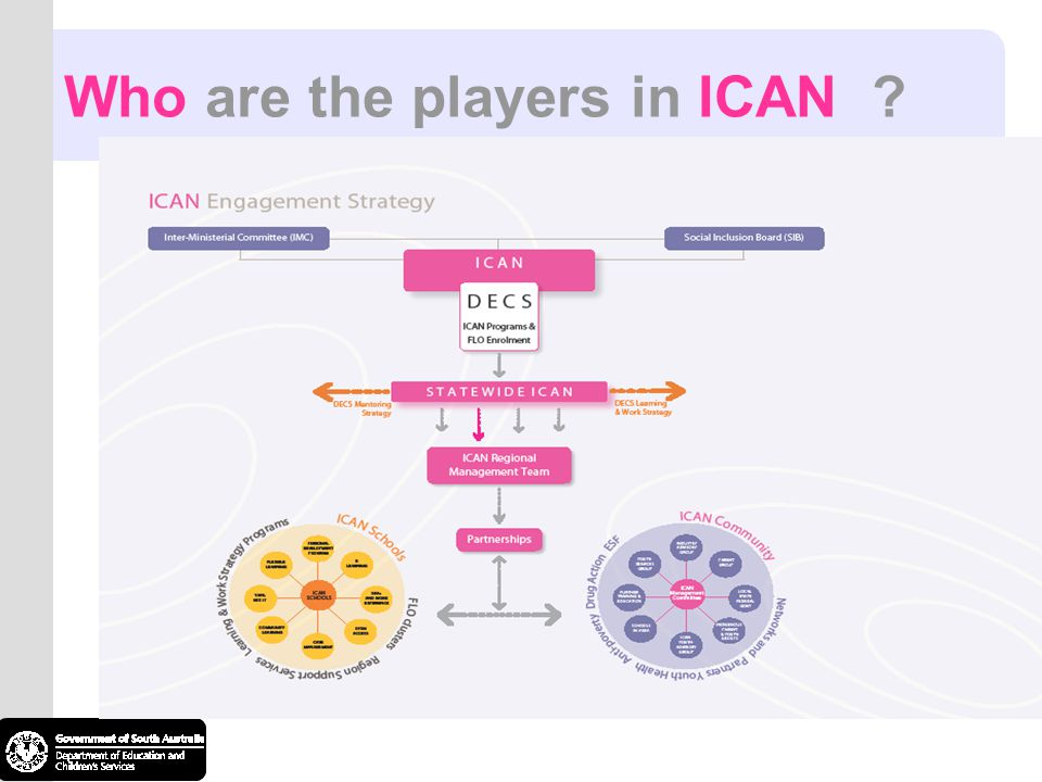 Who are the players in ICAN