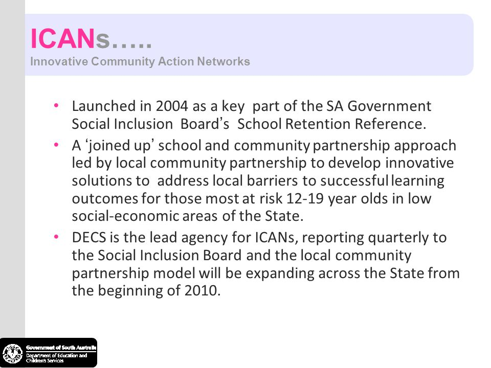 ICANs….. Innovative Community Action Networks