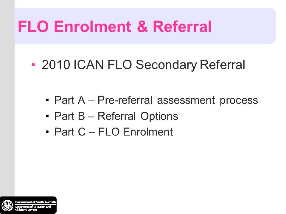 FLO Enrolment & Referral