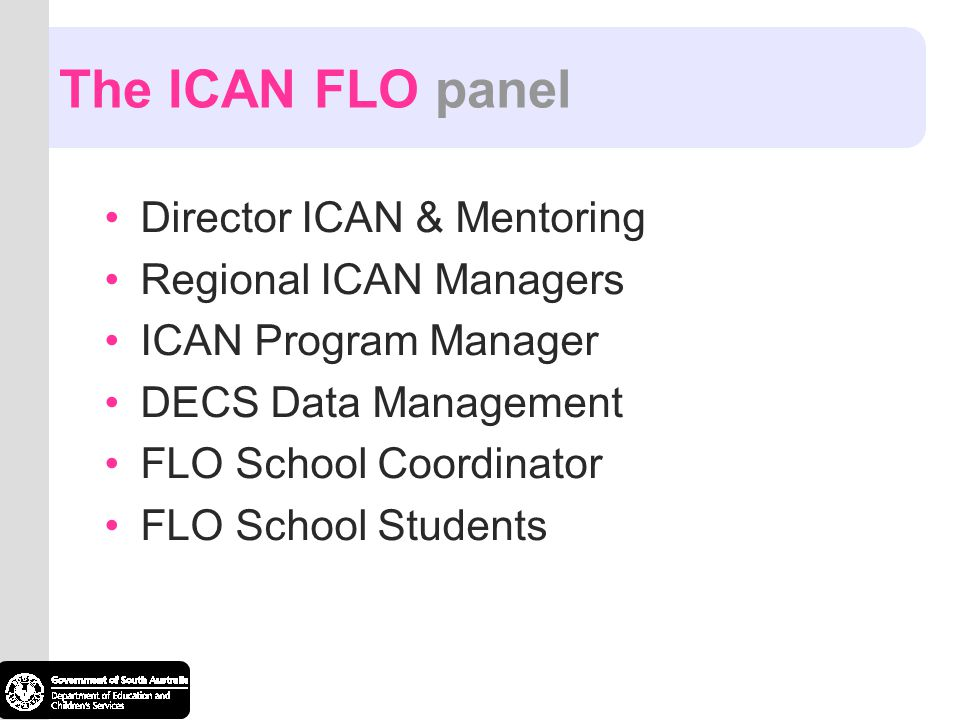The ICAN FLO panel Director ICAN & Mentoring Regional ICAN Managers